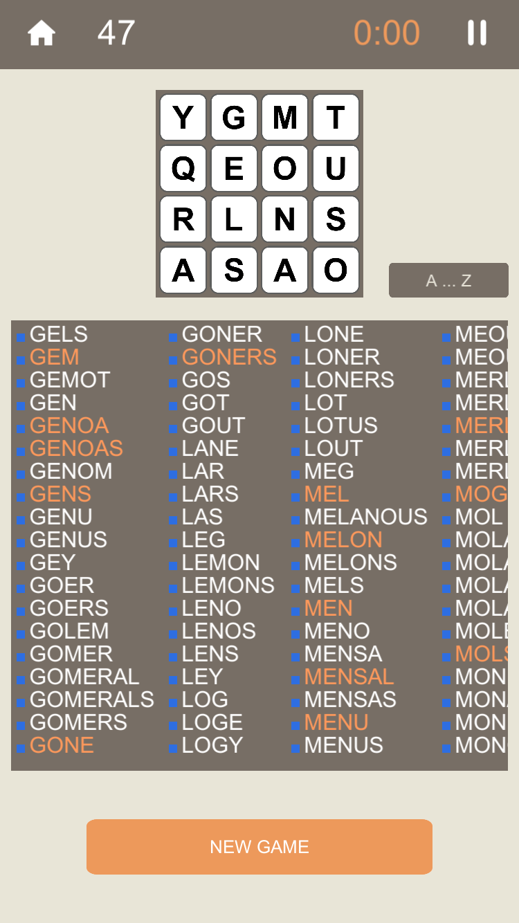 Motaku, iPhone and Android screenshot: Comparing your words with the solutions